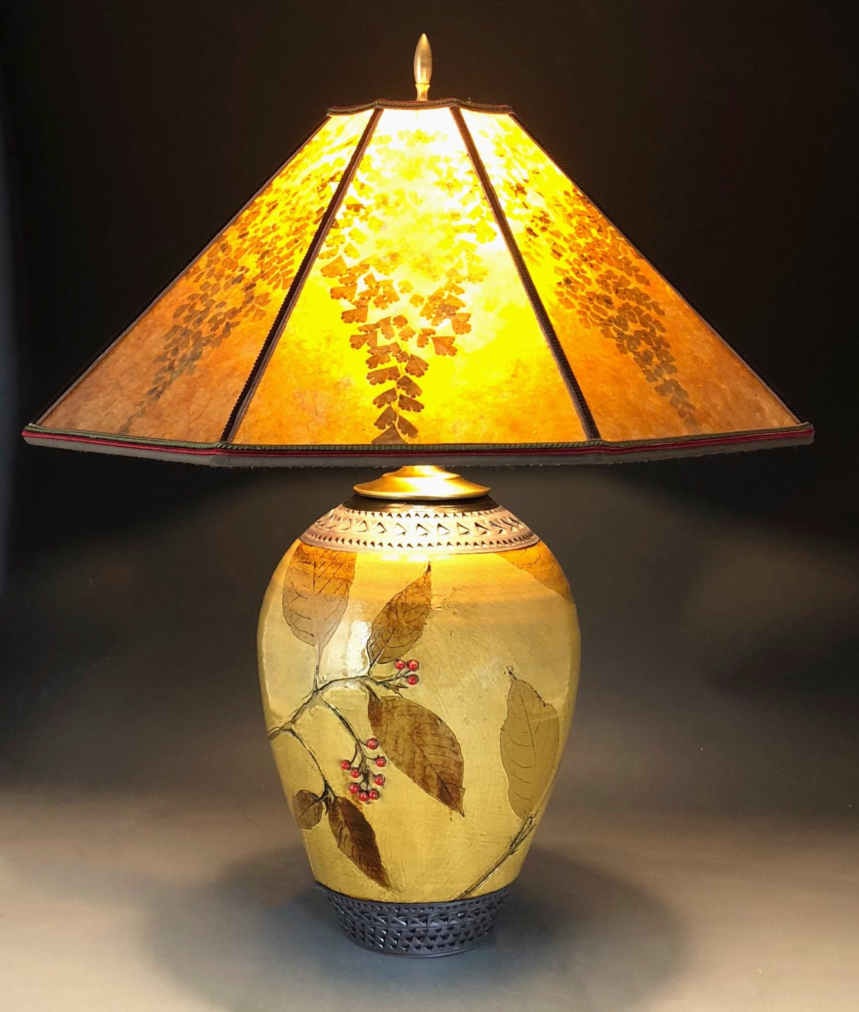 Large amber lamp with mica shade pokeweed suzanne crane blog ordering shows events contact aloadofball Images